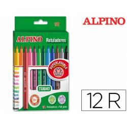Rotulador Alpino Standard Punta Fina Lavable Caja de 12 rotuladores