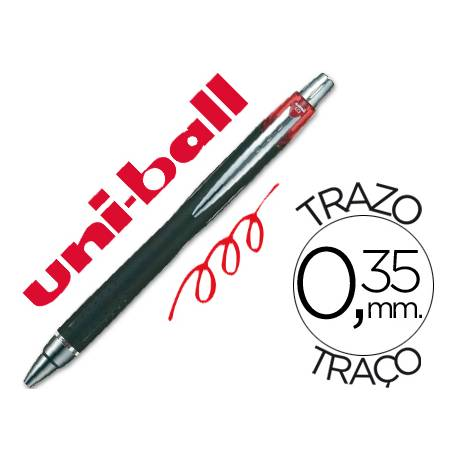 Rotulador-Bolígrafo roller Uni-Ball rojo SXN-210 Jet Stream trazo 0,35 mm