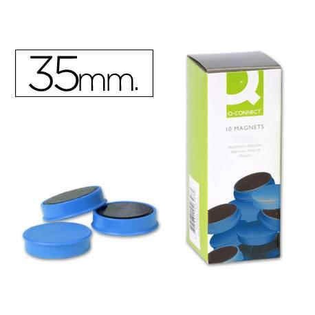 Imanes de sujecion azul Q-Connect