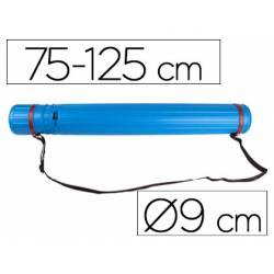Portaplanos plastico extensible 75cm diametro 9 cm Liderpapel azul