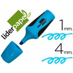 Rotulador Fluorescente Liderpapel mini azul