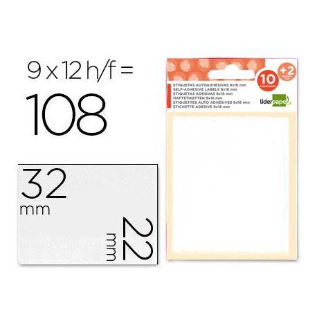 Etiquetas Adhesivas Liderpapel Obsequio 22 x 32 mm