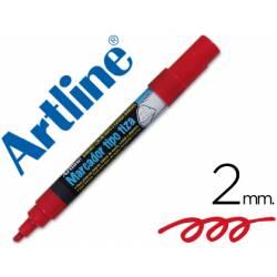 Rotulador Artline EPW-4 Marcador tipo tiza Color Rojo bolsa 4 rotuladores