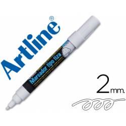 Rotulador Artline EPW-4 Marcador tipo tiza color Blanco
