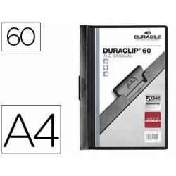 Carpeta dossier con pinza central duraclip Durable 60 hojas Din A4 negro