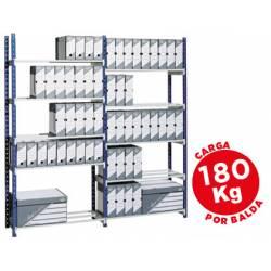 Estanteria Paperflow metalica 5 estantes acero
