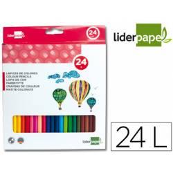Lapices de colores Liderpapel hexagonal caja de 24 Unidades