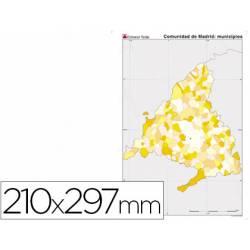 Mapa mudo Madrid político