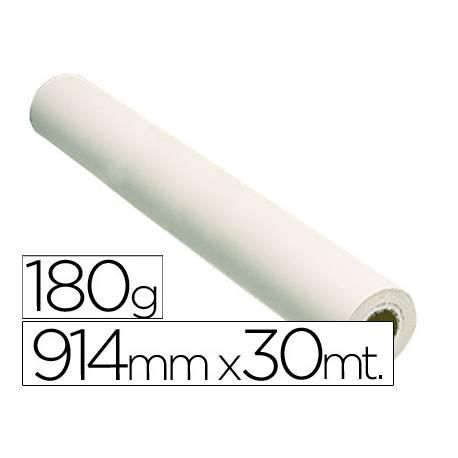 Papel fotografico reprografia Plotter 180 g/m2, 914 mm x 30 m.