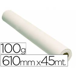 Papel estucado reprografia Plotter 100 g/m2, 610 mm x 45 m.