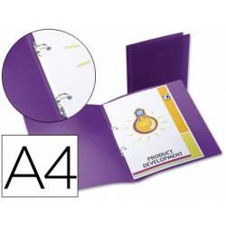Carpeta de 2 anillas Beautone polipropileno lomo 17 mm violeta