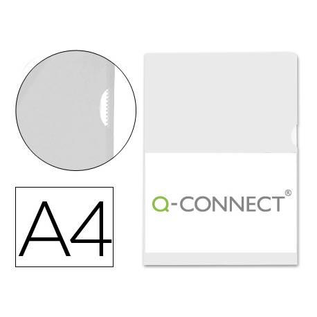 Funda dossier uñero Q-Connect Din A4 Incoloro Bolsa de 10
