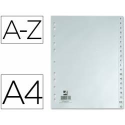 Separadores de plastico Q-Connect alfabeticos multitaladro din A4