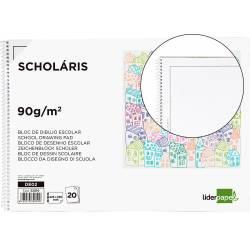 Bloc Liderpapel de dibujo escolar serie Monet A4