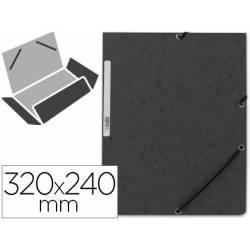 Carpetas de gomas carton prespan Q-Connect Din A4 negro