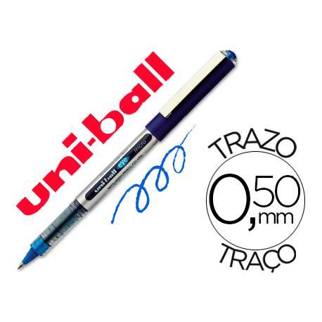 Rotulador-bolígrafo Uni-Ball azul UB-150 0,5 mm