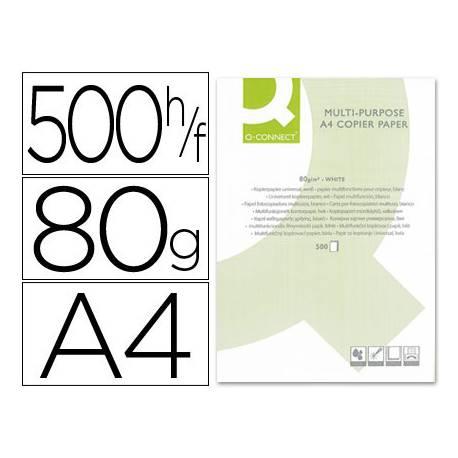 Papel Din A4 Q-Connect 80 g/m2 multifuncion 500 hojas