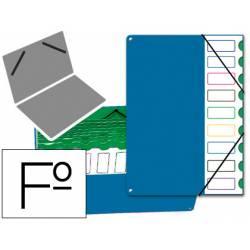 Carpeta clasificadora de plastico Pardo azul