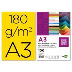 Cartulina Liderpapel amarillo a3 180 g/m2