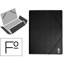 Carpeta lomo flexible gomas con solapas Liderpapel Folio negro