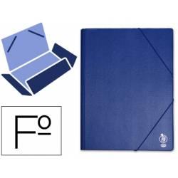 Carpeta lomo flexible gomas con solapas Liderpapel Folio azul