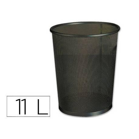 Papelera metalica rejilla Q-Connect 11 L