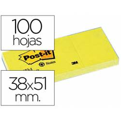 Post-it ® Bloc quita y pon color amarillo 38x51mm