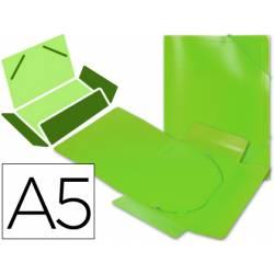 Carpeta lomo flexible gomas con solapas Liderpapel Din A5 verde