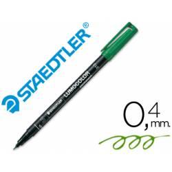Rotulador Retroproyección Permanente Staedtler Lumocolor 313 Verde Punta Superfina Redonda
