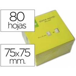 Bloc quita y pon Q-Connect 75x75mm Amarillo Neon
