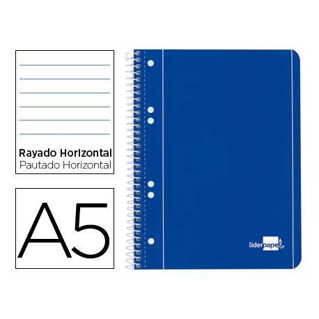 Bloc Din A5 espiral Microperforado Tapa azul Liderpapel