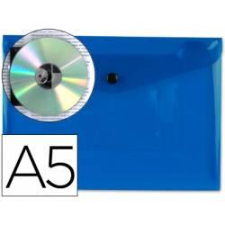 Carpeta sobre Liderpapel broche azul Din A5