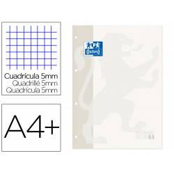 Recambio Oxford DIN A4 + 4 taladros 90 gr cuadrícula 5mm