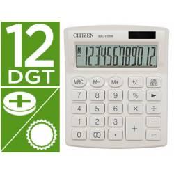 Calculadora sobremesa Citizen SDC-812 NRNVE Eco 12 digitos Blanco