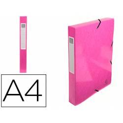 Carpeta de proyecto Exacompta gomas carton plastificado DIN A4 Color Rosa