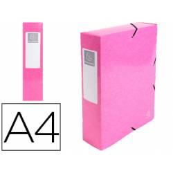 Carpeta de proyecto Exacompta gomas carton plastificado DIN A4 Rosa