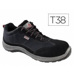 Zapatos de seguridad Deltaplus piel de serraje afelpado talla 38