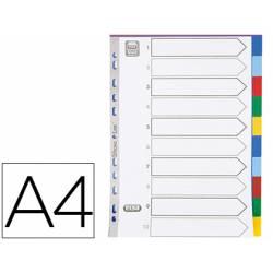 Separador Elba plastico DIN A4 11 taladros colores surtidos