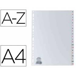 Separador alfabetico Elba plastico DIN A4 11 taladros color gris