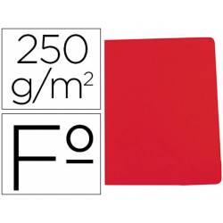 Subcarpeta Gio Folio 250 gr Cartulina rojo