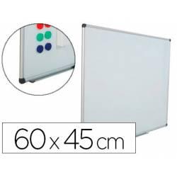 Pizarra Blanca Rocada Acero Vitrificado Magnética Marco aluminio 45x60 cm