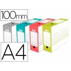 Caja Archivo Definitivo Elba Din A4 Lomo 100 mm Surtidos