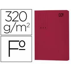 Subcarpeta pocket cartulina Gio Folio con bolsa y solapa burdeos 320g/m2