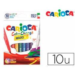 Rotulador Tinta magica carioca caja 10 unidades