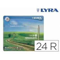 Lapices de colores Lyra Graduate Caja Metálica 24 Colores Surtidos