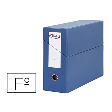 Archivador con tapa Pardo Folio Azul 390x270x115 mm