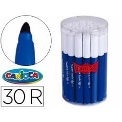 Rotulador Carioca Jumbo grueso caja de 30 rotuladores azules