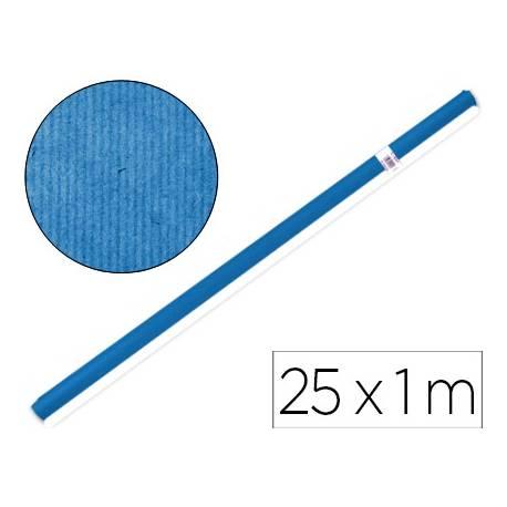 Bobina papel kraft Liderpapel 25 x 1 m azul