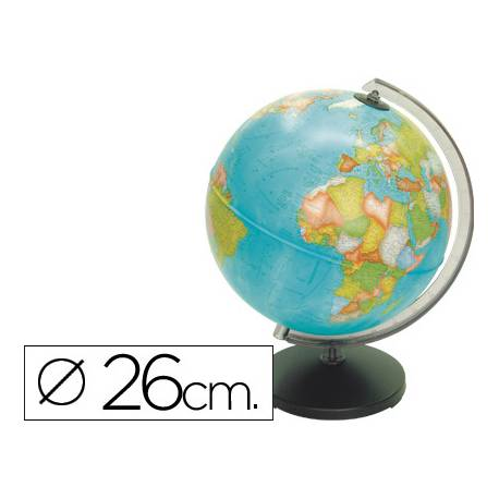 Globo terraqueo político diámetro 26 cm