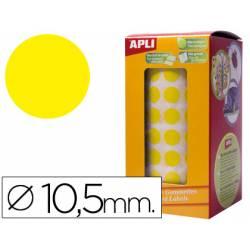 Gomets Apli circulares amarillo 10,5mm